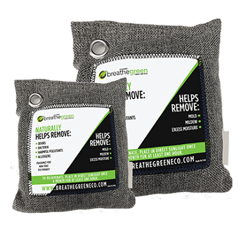 Breathe Green Charcoal Bags